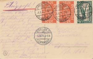 Ansichtskarte Dresden -Neust nach Berlin-Luftpost 1921