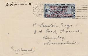 New Foundland 1932  - Trans Atlantic Do X nach England, SELTEN !!!!  Harms 63b