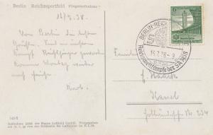Berlin 1938: Reichswettkämpfe der SA - Ansichtskarte Reichssportfeld