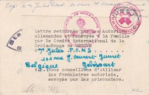 Kgf Brief-Rotes Kreuz - Stalag IVa - Deutsche Zensur-zurück geschickt