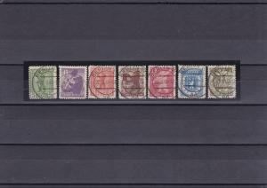 SBZ: Berlin/Brandenburg: MiNr. 1B, 2Ba, 3B, 4Ba, 5B, 6B, 7B - gestempelt, BPP