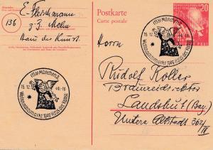 1949: München Weihnachtsmarkt-Haus der Kunst Ganzssache