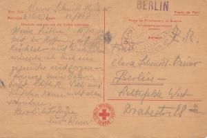 1946: Kriegsgefangenen Post -Rotes Kreuz Genf nach Berlin-Zensur