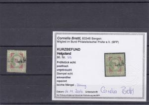 Helgoland: MiNr. 6b, gestempelt, BPP Befund