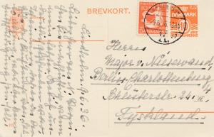 Dänemark: 1936: Postkarte von Kopenhagen nach Berlin
