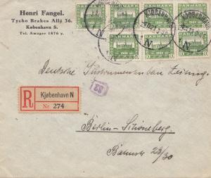 Dänemark: 1921: Brief aus Kopenhagen nach Berlin
