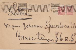 Estland: 1920 Brief von Tallinn