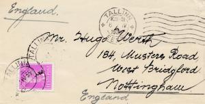 Estland: 1939: Brief Tallinn nach England