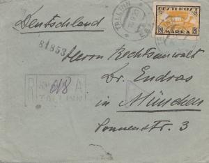 Estland: 1920 Brief von Tallinn nach München - Einschreiben