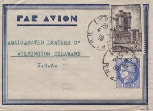 Frankreich: 1939: Luftpost von Lyon nach USA