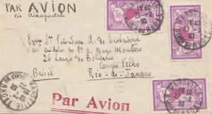 Frankreich: 1930 Luftpost von Marseille nach Rio in Brasilien