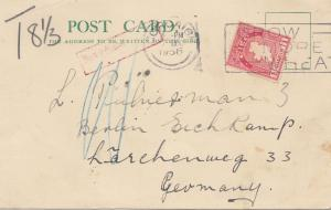 Irland: 1936 post card nach Deutschland