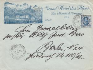 Italien: 1930: San Martino di Castrozza/Dolomiti nach Berlin