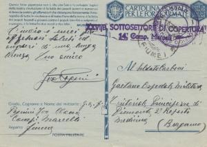 Italien: 1942 XXVI/B Sottosettore Di Copertura nach Bergamo