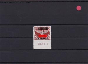 Deutsche Besetzung II. WK: Kurland: MiNr. 4B HAN, postfrisch, BPP tiefst gepr