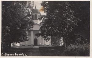 Lettland: 1933:  Ansichtskarte Dzcbenes baznica