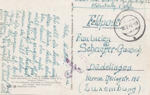 Luxemburg: 1943: Feldpost von Oldenburg nach Düdelingen - Lied-Text