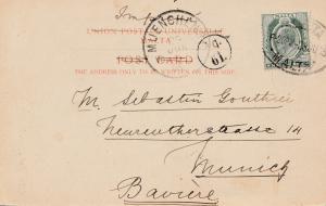 Malta: 1905: Ansichtskarte nach Bayern