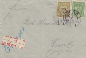Österreich: 1918: Express Brief nach Wien