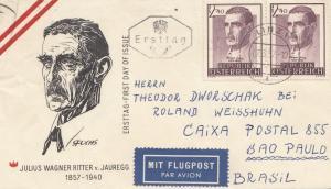 Österreich: 1957: FDC Flugpost nach Brasilien