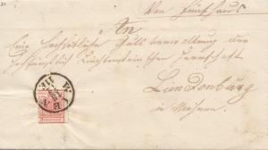 Österreich: 1853: Wien nach Lim Denburg mit Textinhalt
