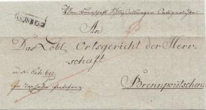 Österreich: 1826: Brief nach Brennporitschenz