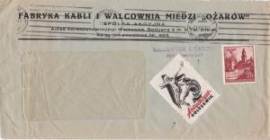 Generalgouvernement (GG): Kabelwerk-Brief mit Propaganda Vignette - Anychriyst