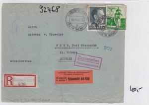 GG: Brief Interniertenpost - Einschreiben 2x Zensur,  Küssnacht