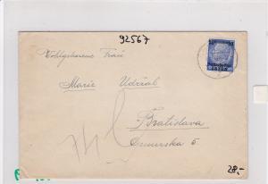 GG:Brief von Neu-Sandez nach Bratislava, früher Brief 1939,Durchrutscher Zensur