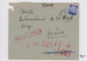 GG: Brief von Wlodawa nach Genf, Rotes Kreuz, Weiterleitung nach USA