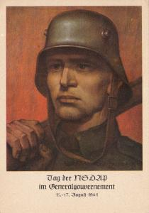 GG: Gedenkkarte Tag der NSDAP mit gebogener 9, selten