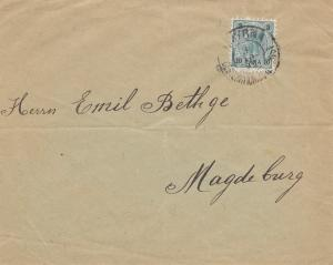 Ö-Levante: 1898: Brief Smyrna nach Magedeburg