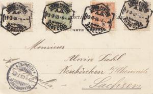 Portugal: 1908: Karte nach Neukirchen/Sachsen