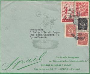 Portugal: Brief Lisboa nach Lyon/France