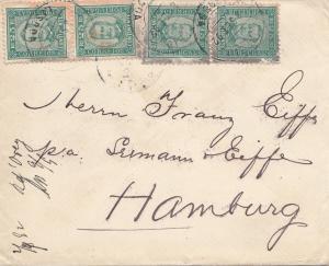 Portugal: 1892: Brief nach Hamburg. MeF