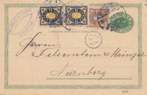 Schweden: 1910 Ganzsache von Stockholm nach Nürnberg