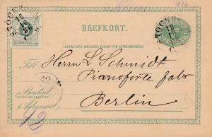 Schweden: 1886: Ganzsache von Stockholm nach Berlin