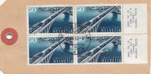 Schweiz: 1947 Paketanhänger Wollenau nach Zermatt