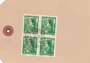 Schweiz: 1935: Paketanhänger Basel nach Grenchen