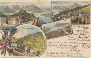 Schweiz: 1908: Ansichtskarte Rigi