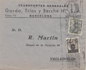 Spanien: 1945: Brief aus Barcelona nach Valladolid
