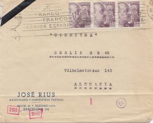 Spanien: 1941: Barcelona nach Berlin, Zensur