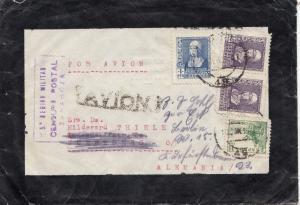 Spanien: 1939: Zaragoza nach Nürnberg, Zensur, Luftpost