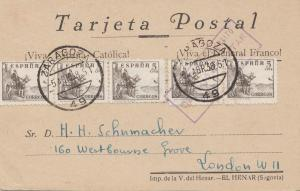 Spanien: 1938: Zaragoza nach London, Zensur