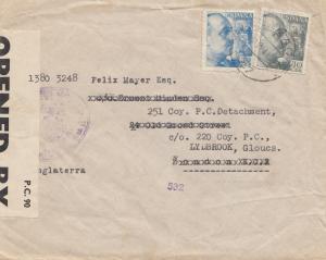 Spanien: 1941: Brief nach London, Zensur