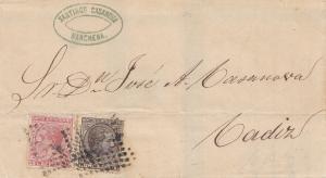 Spanien: 1868: Brief von Narchena nach Cadiz