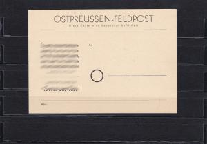 Ostpreussen-Feldpostkarte, MiNr. P2a, ungebraucht, echt, BPP Attest