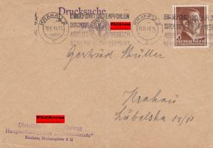 GG: Werbestempel Vollkornbrot auf Drucksache Brief NSDAP Fraueneinsatz