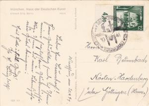 GG: Ak Haus der dt. Kunst, Sonderstempel 1941, Geburtstag, Photo Hoffmann