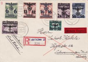 GG: Einschreiben Eilbote von Tarnow nach Schwenningen